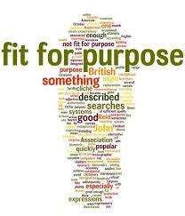 Ejemplo de cosas que pueden ser fit for purpose.